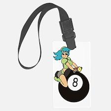 2-girl on 8 ball Luggage Tag