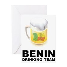 drinkingteamBenin1 Greeting Card