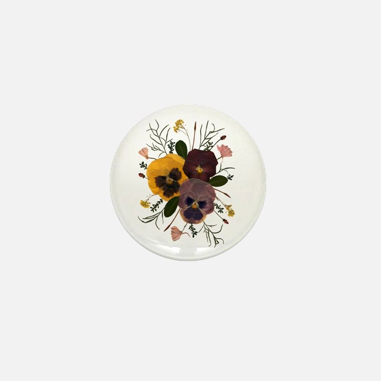 3-pansy_ncard Mini Button