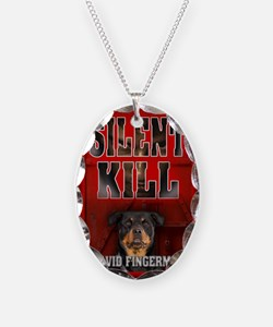 Silent Kill greeting card Necklace