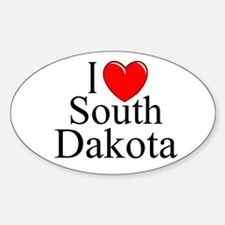 """I Love South Dakota"" Oval Decal"