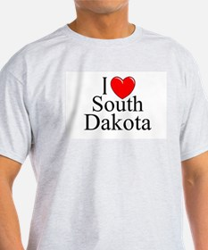"""I Love South Dakota"" Ash Grey T-Shirt"