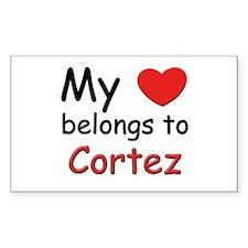 My heart belongs to cortez Rectangle Decal