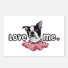 Love Me Boston Terrier Postcards (Package of 8)
