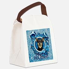 Blue_Snowflake_Australian_Kelpie_ Canvas Lunch Bag