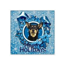 "Blue_Snowflake_Australian_K Square Sticker 3"" x 3"""