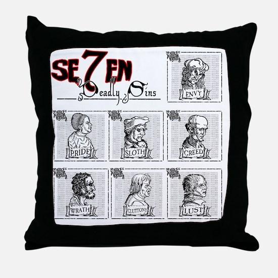 7deadly Throw Pillow
