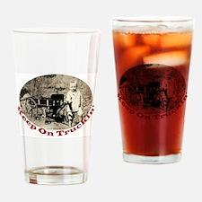 Keep On Truckin' Drinking Glass