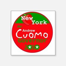 """Cuomo 2010 Square Sticker 3"""" x 3"""""""