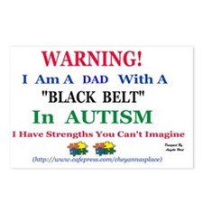 black belt cap dad Postcards (Package of 8)