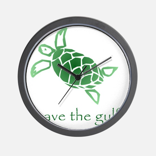 turtle-pap-green-grad Wall Clock
