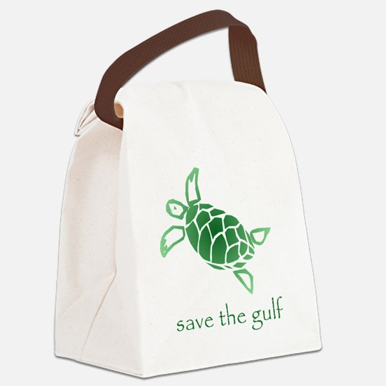 turtle-pap-green-grad Canvas Lunch Bag
