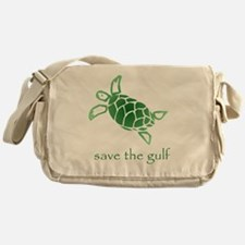 turtle-pap-green-grad Messenger Bag