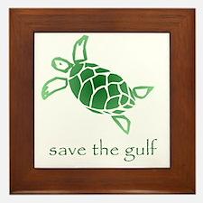 turtle-pap-green-grad Framed Tile