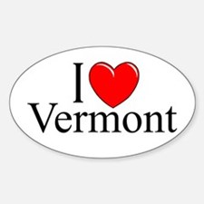 "'I Love Vermont"" Oval Decal"