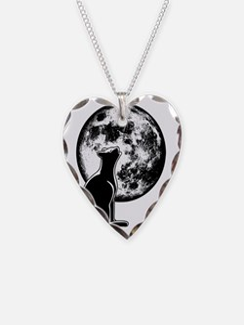 cat-moon-T Necklace