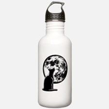 cat-moon-T Water Bottle