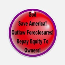 outlaw_foreclosures_transparent Round Ornament