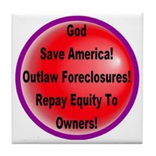 outlaw_foreclosures_transparent Tile Coaster