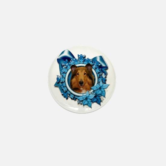 Blue_Snowflake_Collie_Natalie_Sq_Pl Mini Button