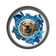 Blue_Snowflake_Golden_Retriever_Mickey_ Wall Clock
