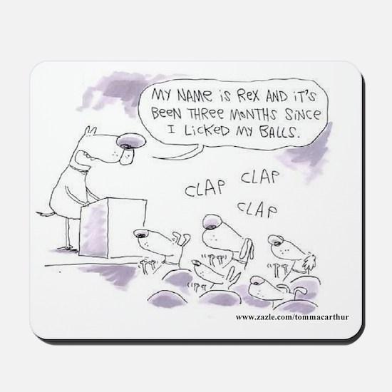 DOGS BALLS Mousepad