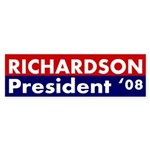 Richardson: President '08 bumper sticker