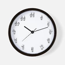 Sign Language Wall Clock