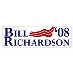 Bill Richardson '08 Flag Bumper Sticker