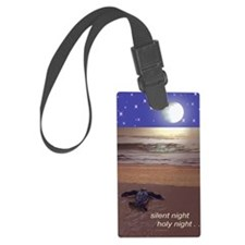 SILENT NIGHT SEA TURTLE CHRISTMA Luggage Tag