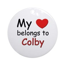 My heart belongs to colby Ornament (Round)
