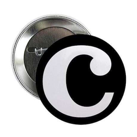 "black and white ""c"" Button"