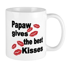 Papaw gives the best kisses Mugs