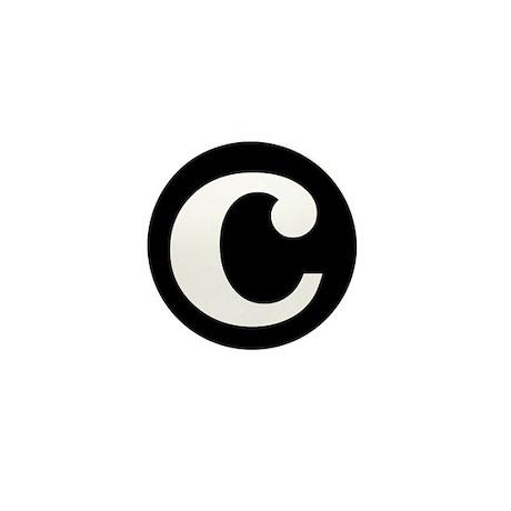 """black and white """"c"""" Mini Button"""