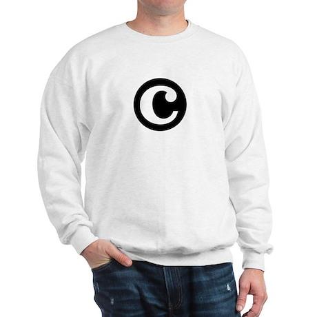 """black and white """"c"""" Sweatshirt"""
