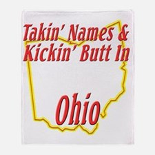 Ohio - Kickin Butt Throw Blanket