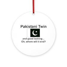 Pakistani Twins-Good Lkg Keepsake Ornament
