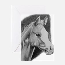 Paint Foal in pencil Greeting Card