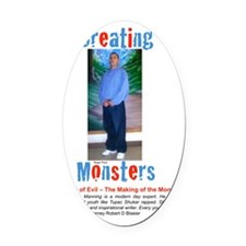 Creating moster cover4 Oval Car Magnet