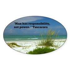 Man has responsibility3.5x5.5 Decal