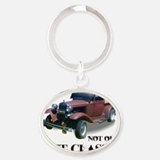 New Not Old Oval Keychain