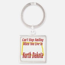 North Dakota - Smiling Square Keychain