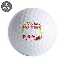 North Dakota - Smiling Golf Ball