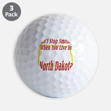 North Dakota - Smiling Golf Ball