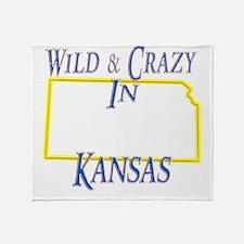 Kansas - Wild and Crazy Throw Blanket