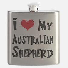 I-Love-My-Australian-Shepherd Flask