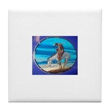 Cute American indian horse Tile Coaster