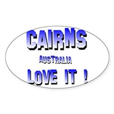 Cairns Australia Oval Decal