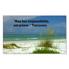 Man has responsibility9x12 Decal