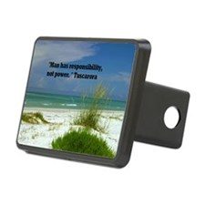 Man has responsibility9x12 Hitch Cover